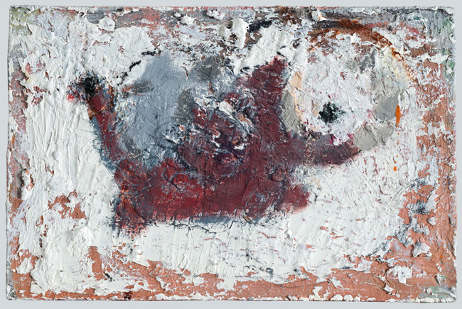 Very Small Creature, 2013, oil on masonite, 5 x 8 inches