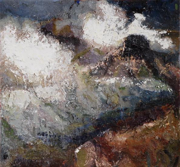 Burst, 2006, oil on linen, 14 x 15 inches