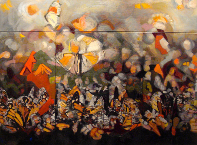 Butterfly Parade, 2009-2013, oil/linen, 52 x 70 inches