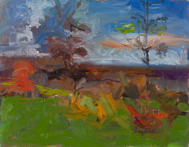 Fall Drama, 2011, oil on canvas, 22 x 28 inches