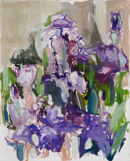 Iris, 2012, oil on canvas, 20 x16 inches