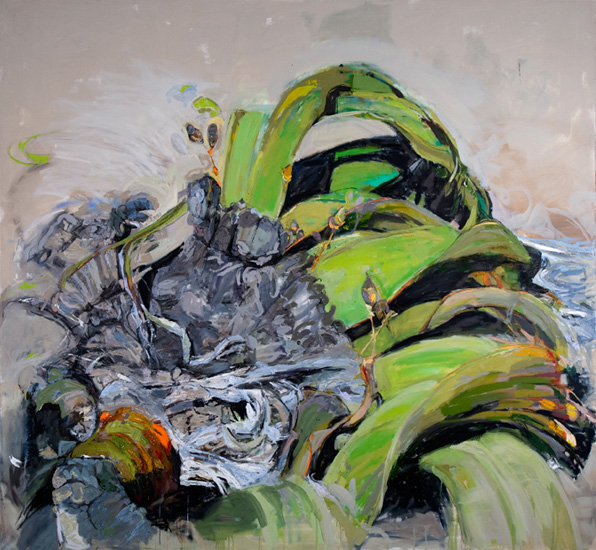 Mirabalis, 2010, oil on linen, 6.5 x 7 feet
