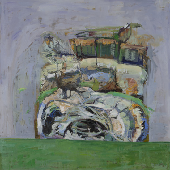Ode to Philip, 2008-10, oil on linen, 50 x 50 inches