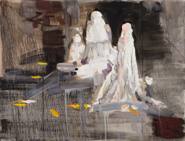 Procession, 2011-12, oil on linen, 32 x 46 inches