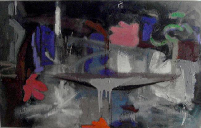 Spilt, 2013, oil/linen, 15 x 24 inches