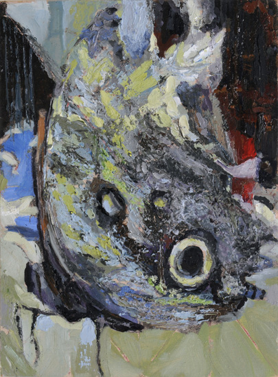 Who am I, 2008, oil on wood, 10 x 7.5 inches