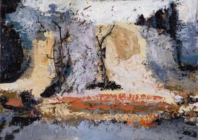 Atacama Series with Twigs, 2005, oil on linen, 10 x 14 inches