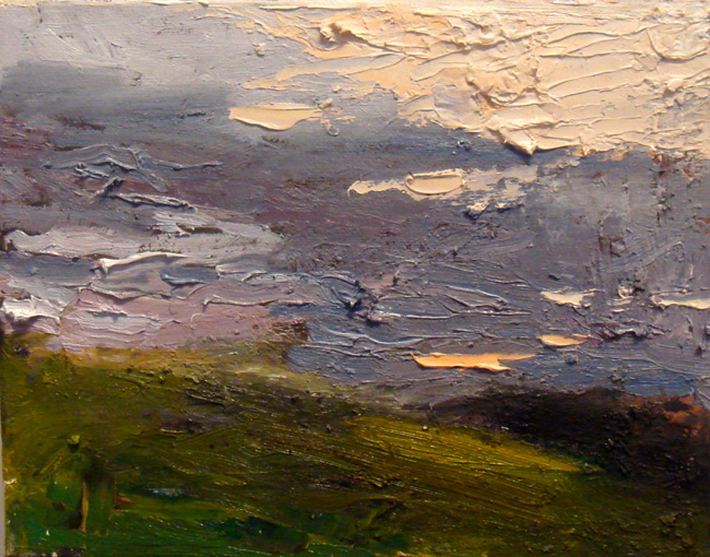 After Glow, 2012, oil on canvas, 8 x 10 inches