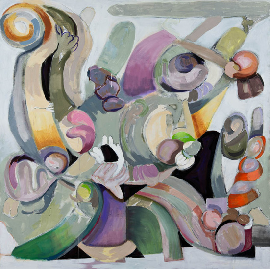 Taffy Pull, 2015, oil on linen, 64 x 64 inches