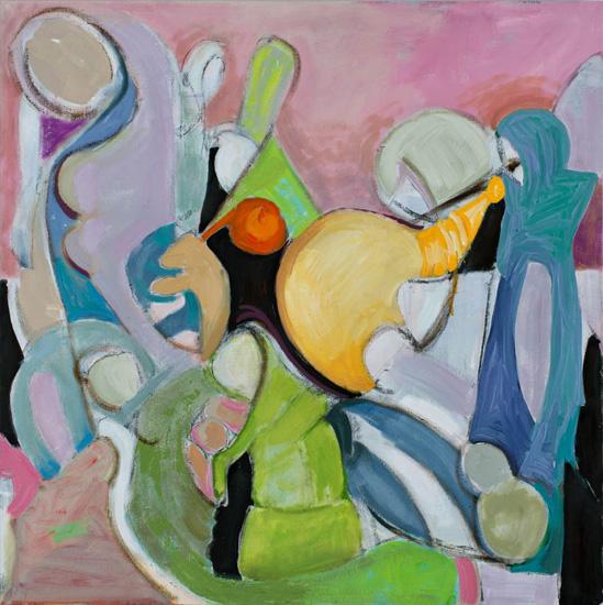 Ensemble, 2015, oil on linen, 40 x 40 inches