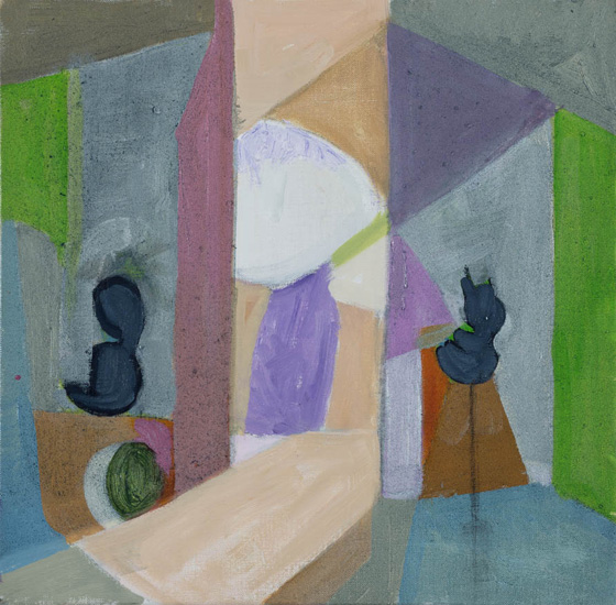 Gallery, 2016, oil on linen, 14 x 14 inches