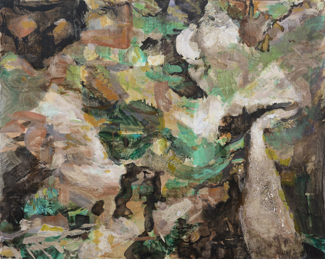 Fungus and Fern, (Catskill), 2019, oil on panel, 24 x 30 inches